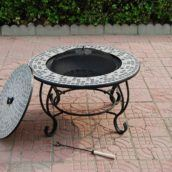 firepit table med net